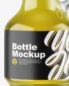Clear Glass Oil Bottle Mockup
