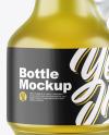 Frosted Glass Oil Bottle Mockup