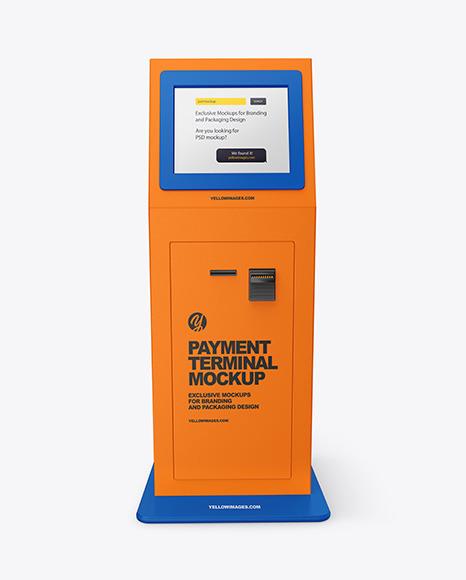 Textured Payment Terminal Mockup