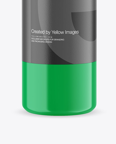 750ml Glossy Acrylic Paint Bottle Mockup