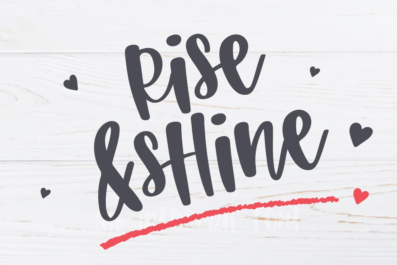 Sunshine on my mind-An informal font