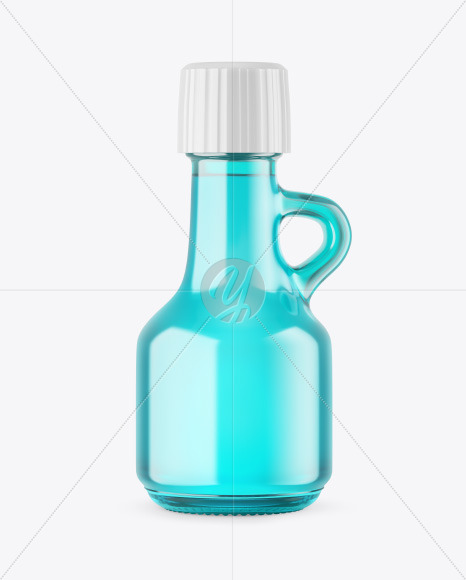 Colored Glass Bottle Mockup