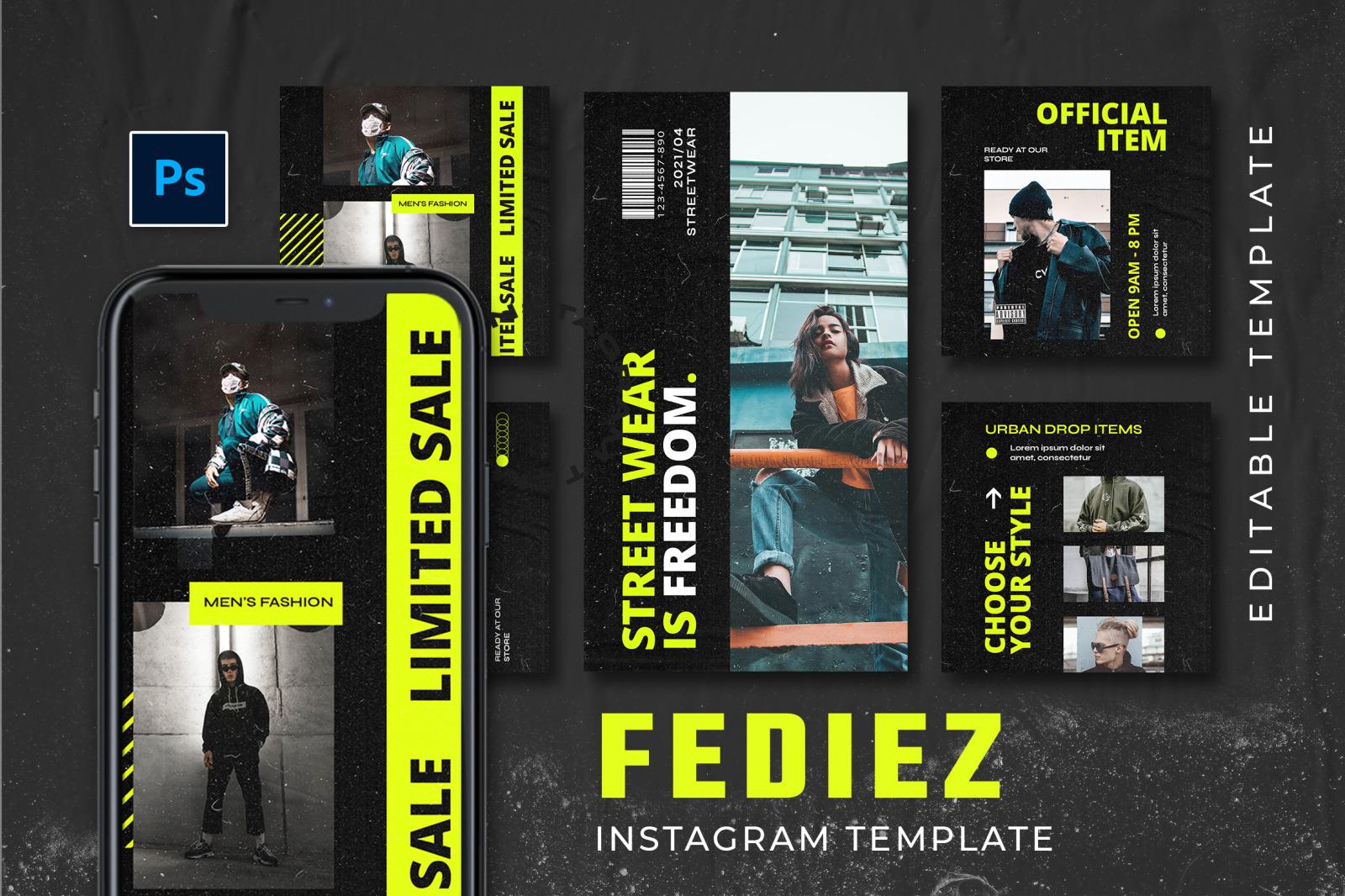 Fediez Instagram Template