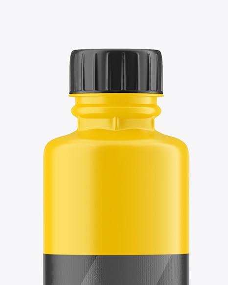 750ml Matte Acrylic Paint Bottle Mockup