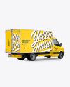 Box Truck Van Mockup - Back Half Side View