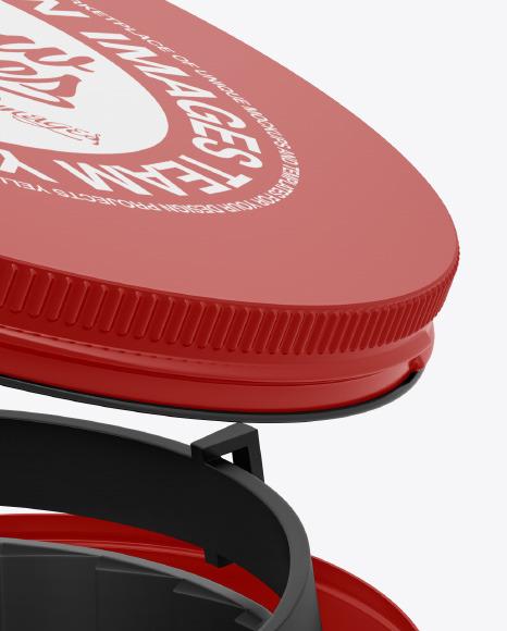 Glossy Round Tin Box w/ Pet Collar Mockup