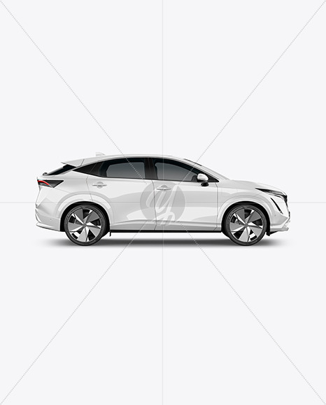 Electric Crossover SUV - Side View - Yellowimages Mockups