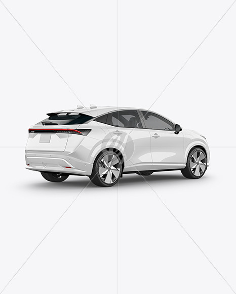 Electric Crossover SUV - Back Half Side View - Yellowimages Mockups