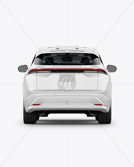 Electric Crossover SUV - Back View - Yellowimages Mockups