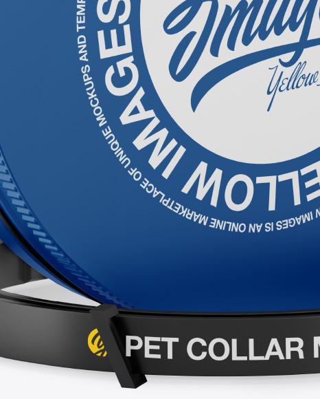 Matte Round Tin Box w/ Pet Collar Mockup