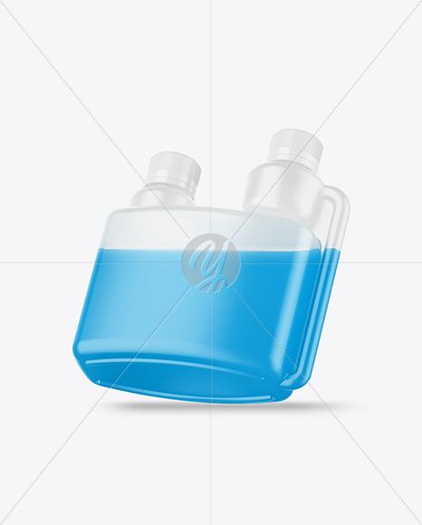 Glossy Dosing Bottle Mockup - Half Side View