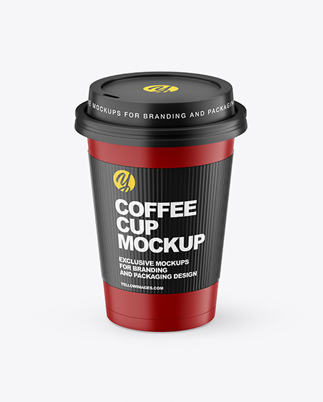 Matte Coffee Cup with Holder Mockup