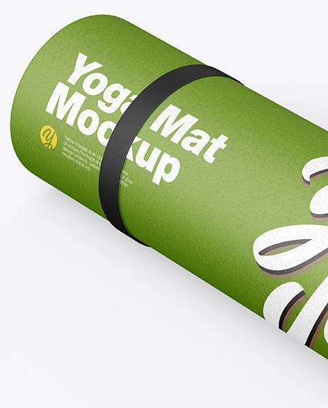 Rubber Yoga Mat Mockup