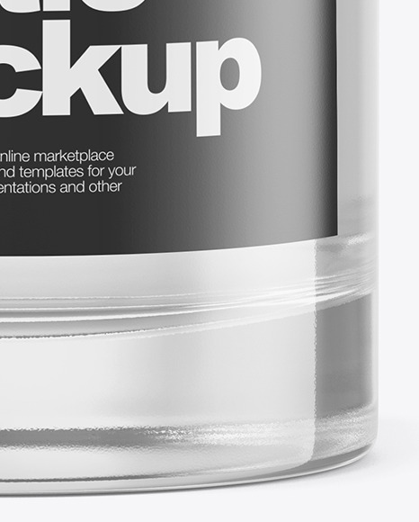 Clear Glass Cosmetic Bottle Mockup