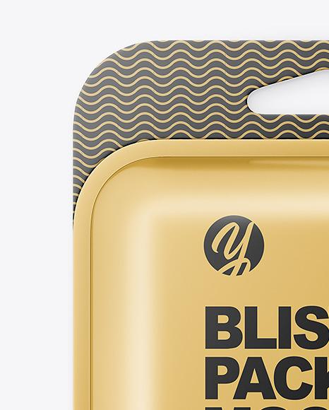 Metallic Blister Package Mockup
