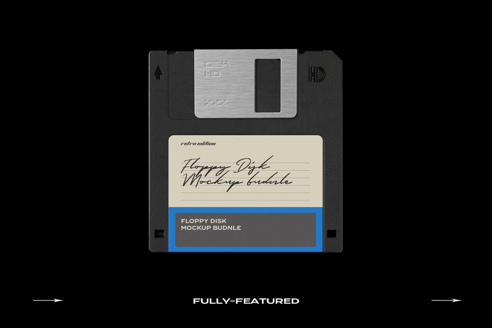 Floppy Disk Mockup Template Bundle