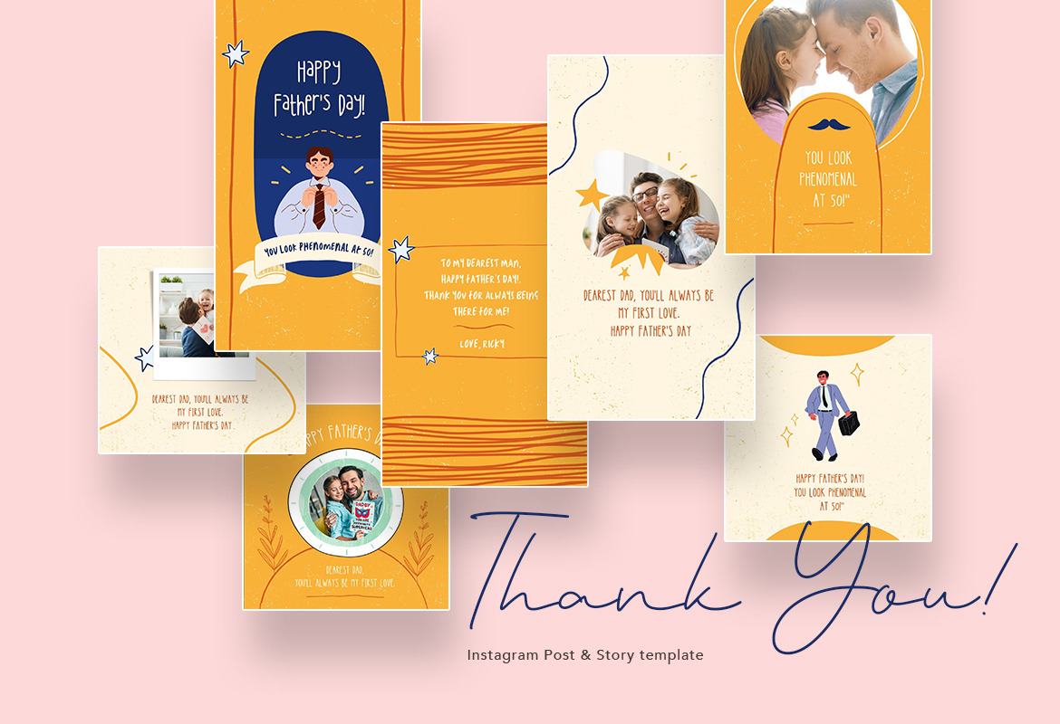 Shiny Father's Day Instagram Canva