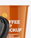 Glossy Opened Coffee Cup Mockup