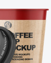 Matte Opened Coffee Cup with Holder Mockup