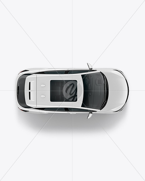 Electric Crossover SUV - Top View - Yellowimages Mockups