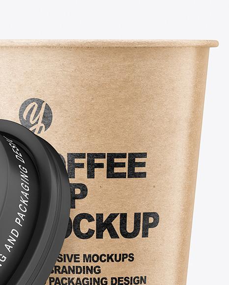 Kraft Opened Coffee Cup Mockup