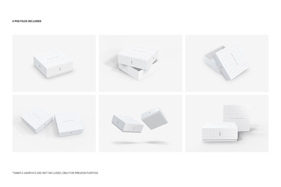 Square Box Packaging Mockups