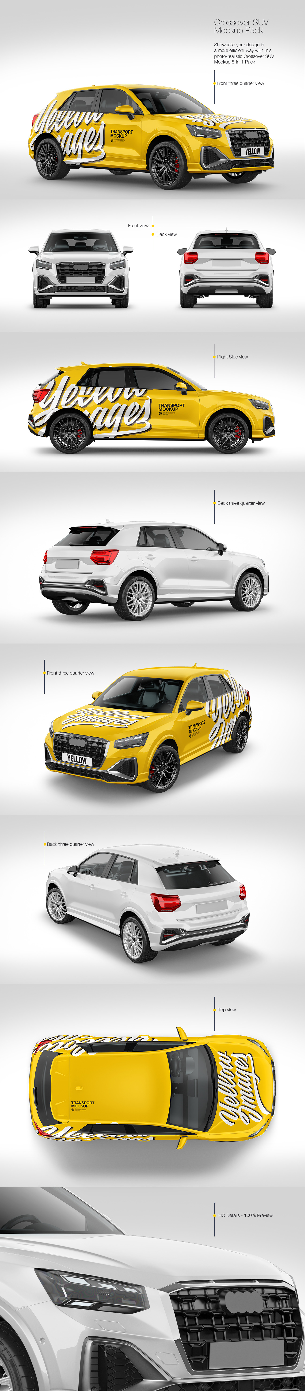 Luxury Crossover SUV Mockup Pack