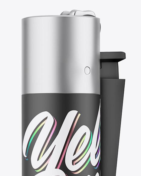 Matte Plastic Lighter Mockup