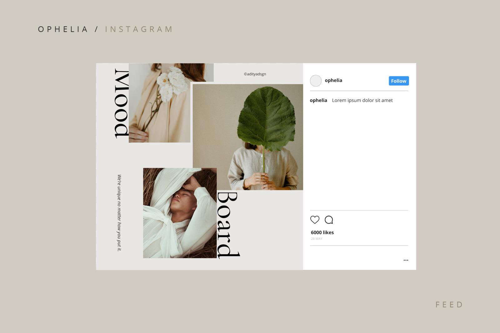 Ophelia Instagram Template