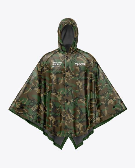 Poncho Raincoat Mockup