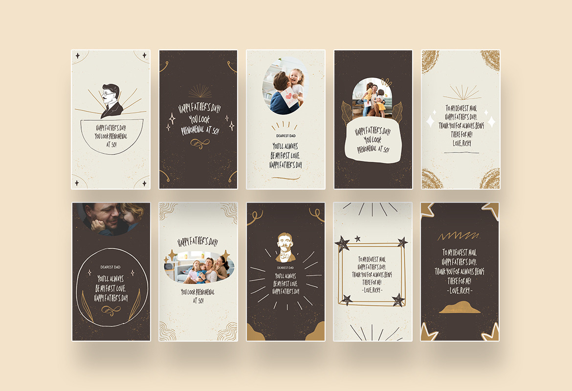Father's Day Instagram Canva