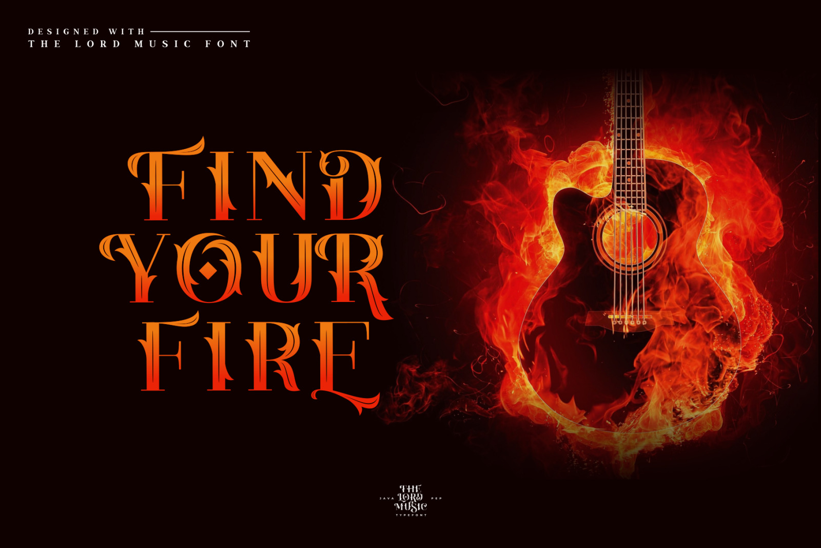 The Lord Music-Decorative Font
