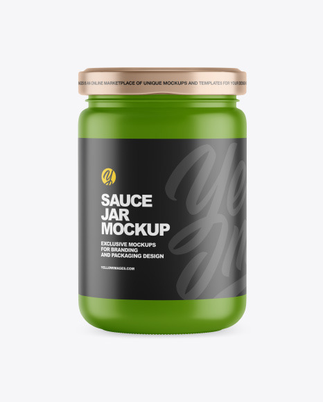 Matte Sauce Jar Mockup