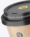 Kraft Coffee Cup with Holder Mockup