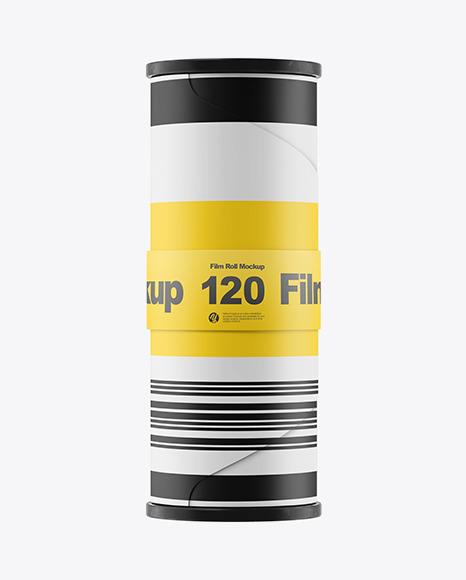 120 Film Roll Mockup