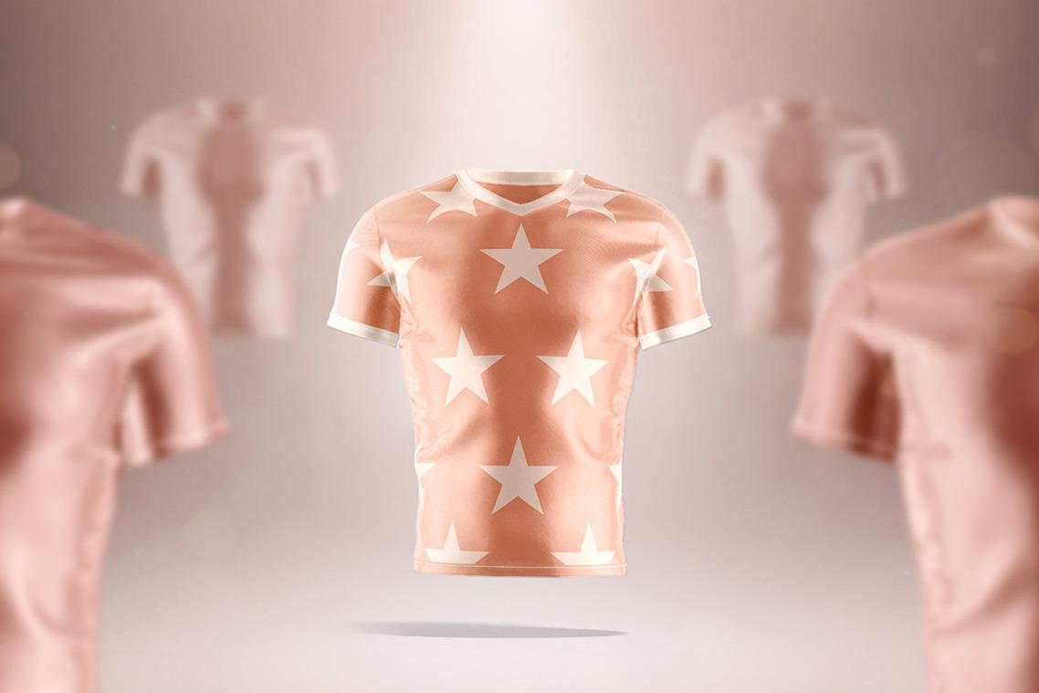 V-neck T-shirt Animated Mockup