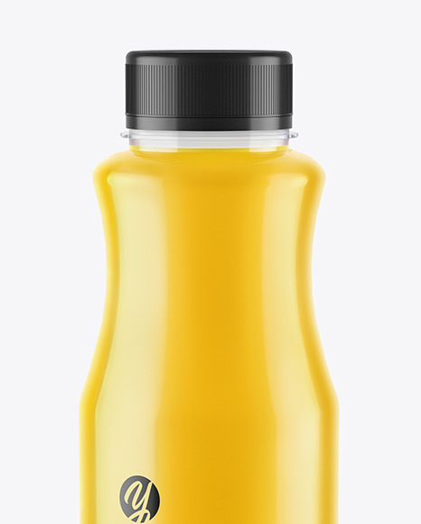 Orange Juice Plastic Bottle Mockup