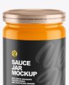 Glossy Sauce Jar Mockup