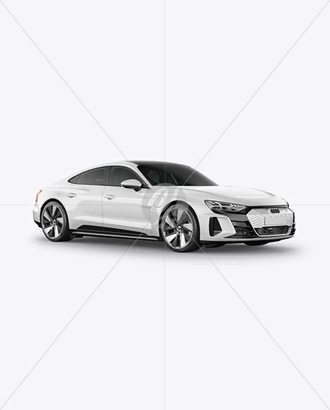 Electric Executive Car Mockup - Half Side View - Yellowimages Mockups