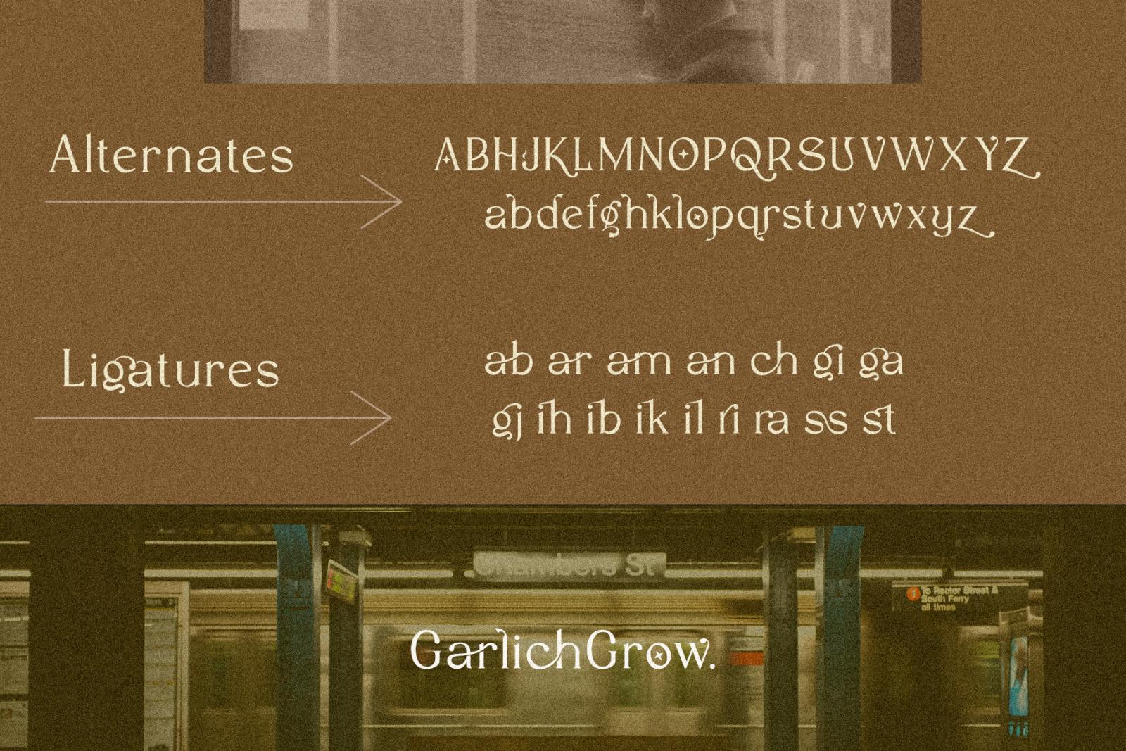 Garlich Grow - Trendy Modern Serif