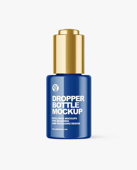 Glossy Dropper Bottle Mockup