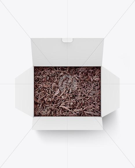 Box with Black Tea Mockup