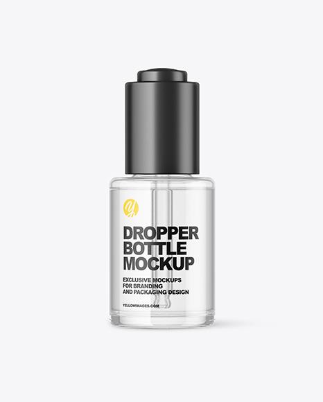 Glass Dropper Bottle Mockup