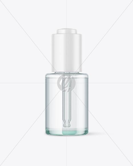 Blue Glass Dropper Bottle Mockup