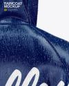 Poncho Raincoat w/ Water Drops Mockup