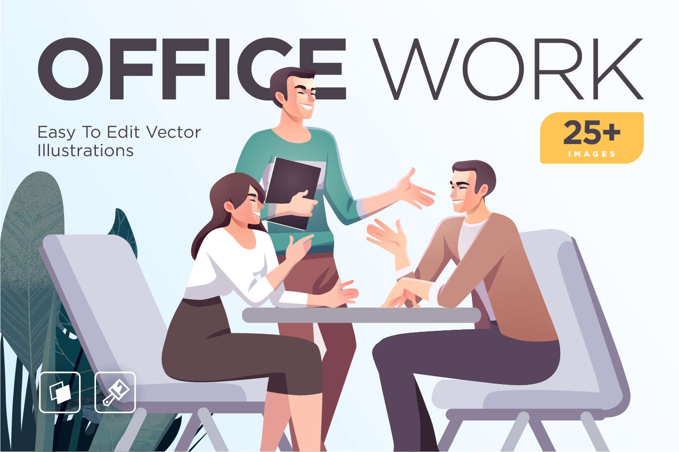 Business Concept illustrations. Scenes with people taking part in business activities