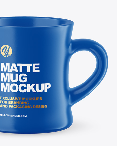 Two Matte Mugs Mockup