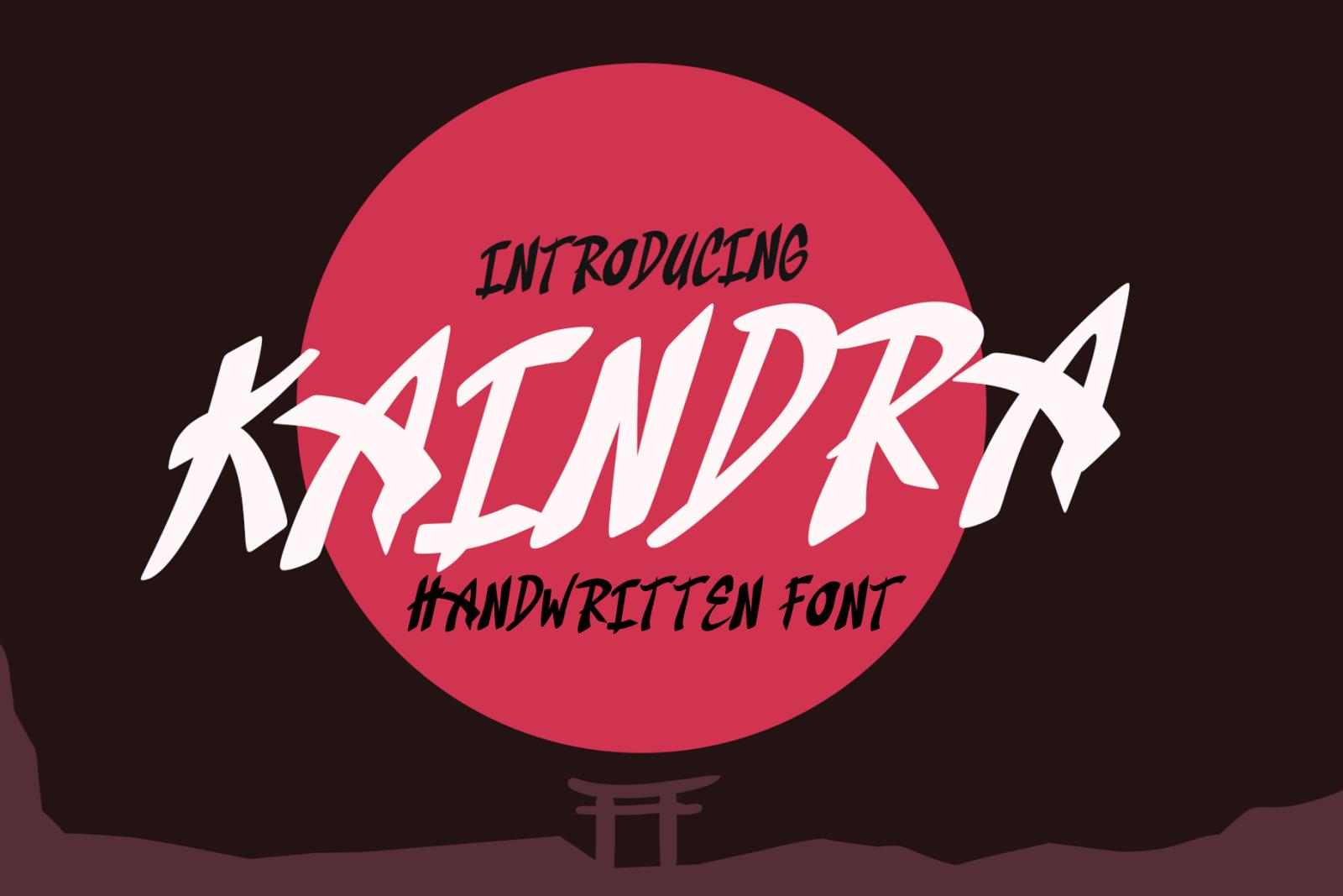 Kaindra Japan Style Font