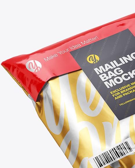 Glossy Mailing Bag Mockup