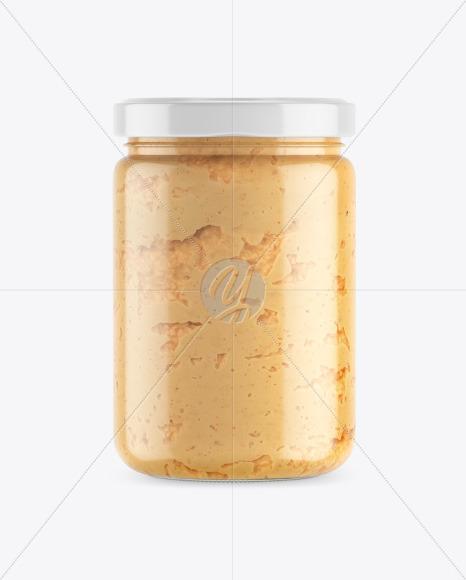 Clear Glass Jar w/ Spread Mockup